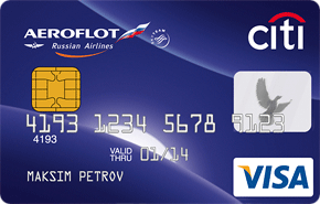 Кредитная карта Аэрофлот-Ситибанк