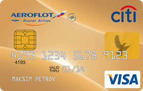 Кредитная карта Аэрофлот-Ситибанк Премиум