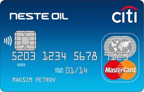 Кредитная карта Neste Oil-Citibank