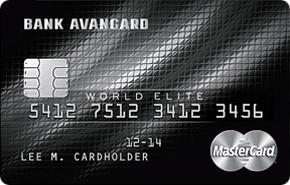 Кредитная карта World Elite банка Авангард