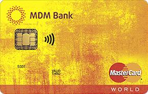 Кредитная карта PayPass MDM Bank