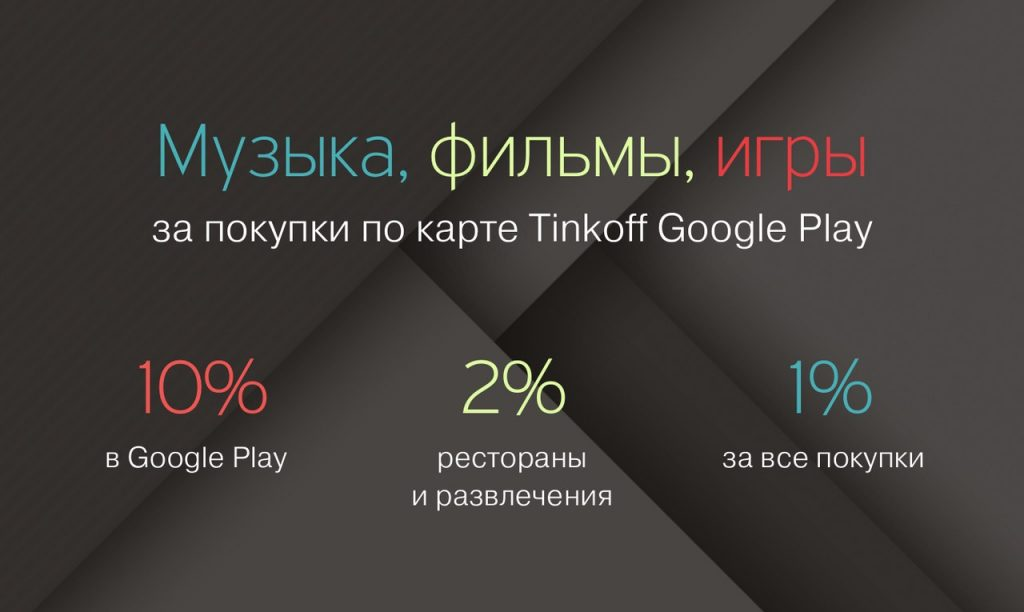 Кредитная карта Tinkoff Google Play