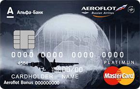 Дебетовая карта Аэрофлот Platinum