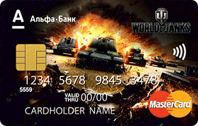 Дебетовая карта World of Tanks